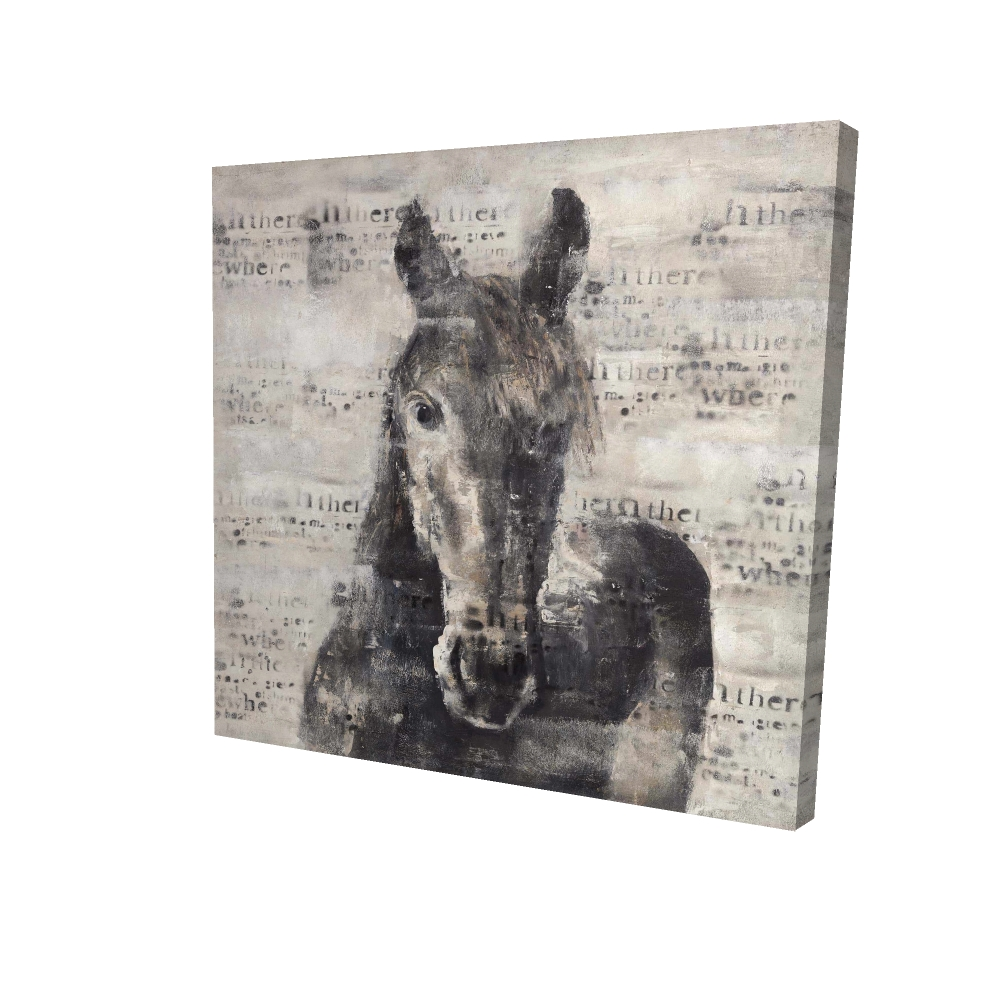 Abstract horse with typography
