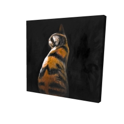 Canvas 24 x 24 - 3D - Spotted cat
