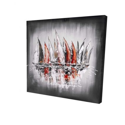 Sailboats with paint splash