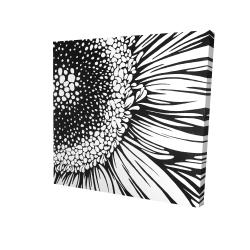 Canvas 24 x 24 - 3D - Gerbera flower