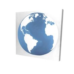 Canvas 24 x 24 - 3D - The earth