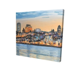 Canvas 24 x 24 - 3D - Skyline of quebec city