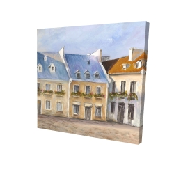 Canvas 24 x 24 - 3D - Old quebec city