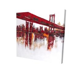 Canvas 24 x 24 - 3D - Red bridge