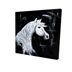Canvas 24 x 24 - 3D - Horse profile view