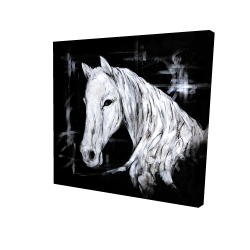 Canvas 24 x 24 - 3D - Abstract horse profile view