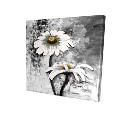 Canvas 24 x 24 - 3D - Abstract daisies flowers