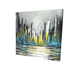 Canvas 24 x 24 - 3D - Abstract blue skyline