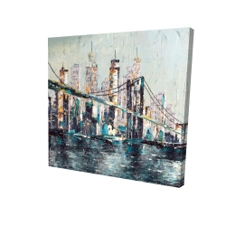 Canvas 24 x 24 - 3D - Abstract and texturized bridge