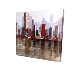 Canvas 24 x 24 - 3D - Industrial city style