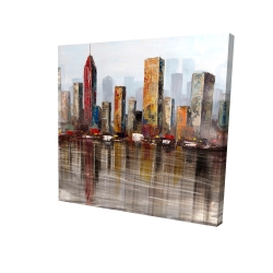 Canvas 24 x 24 - 3D - Rust looking city