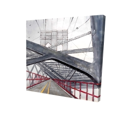 Canvas 24 x 24 - 3D - Under the brooklyn bridge