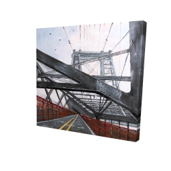 Canvas 36 x 36 - 3D - Bridge architecture