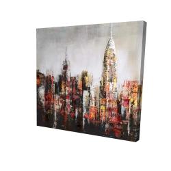 Canvas 24 x 24 - 3D - Paint splash city