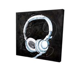 Toile 24 x 24 - 3D - écouteur