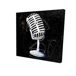 Canvas 24 x 24 - 3D - Microphone