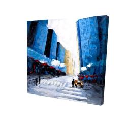 Canvas 24 x 24 - 3D - Blue buildings