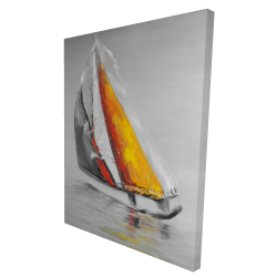 Canvas 36 x 48 - 3D - Two colors sailing boat