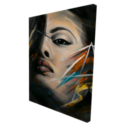 Canvas 36 x 48 - 3D - Abstract woman portrait