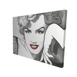 Canvas 36 x 48 - 3D - Vintage style marilyn monroe