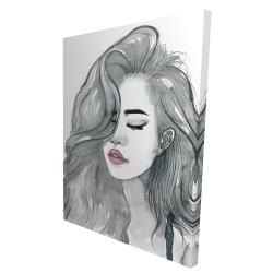 Canvas 36 x 48 - 3D - Beautiful female hair