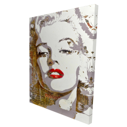 Canvas 36 x 48 - 3D - Marilyn monroe with typography