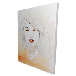 Canvas 36 x 48 - 3D - Portrait in watercolor