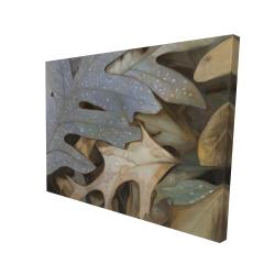 Canvas 36 x 48 - 3D - Autumn leaves