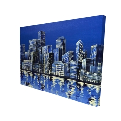 Canvas 36 x 48 - 3D - City in blue