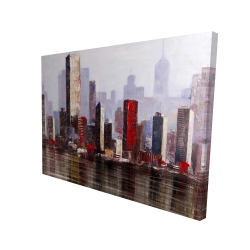 Canvas 36 x 48 - 3D - Industrial city style