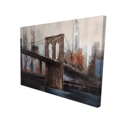 Canvas 36 x 48 - 3D - Urban brooklyn bridge