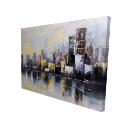 Canvas 36 x 48 - 3D - Abstract city in the morning