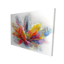 Canvas 36 x 48 - 3D - Abstract flower with texture