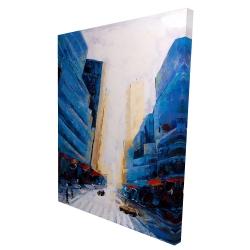 Canvas 36 x 48 - 3D - Blue asymmetrical street