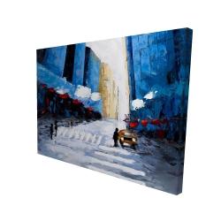 Canvas 36 x 48 - 3D - Blue buildings