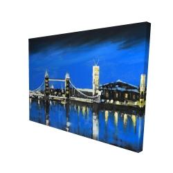 Canvas 36 x 48 - 3D - Blue skyline of london