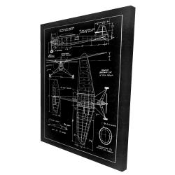 Toile 36 x 48 - 3D - Schéma d'avion