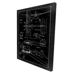 Toile 36 x 48 - 3D - Plan d'avion