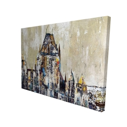 Canvas 36 x 48 - 3D - Abstract château frontenac
