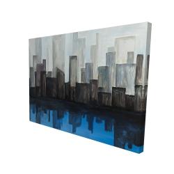 Canvas 36 x 48 - 3D - View of a blue city