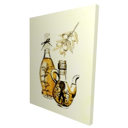 Canvas 36 x 48 - 3D - Two bottles of olive oil