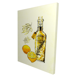 Canvas 36 x 48 - 3D - Olive oil and lemons