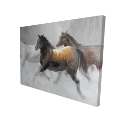 Canvas 36 x 48 - 3D - Herd of wild horses