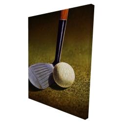 Canvas 36 x 48 - 3D - Closeup of a golf club
