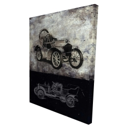 Canvas 36 x 48 - 3D - Sketch of a vintage car