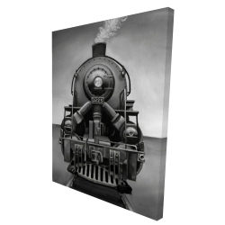 Canvas 36 x 48 - 3D - Black and white train