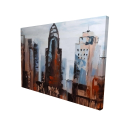 Canvas 36 x 48 - 3D - Sullen day in the city