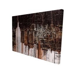 Canvas 36 x 48 - 3D - The empire city of newyork