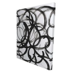 Canvas 36 x 48 - 3D - Abstract curly lines