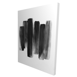 Canvas 36 x 48 - 3D - Black shapes